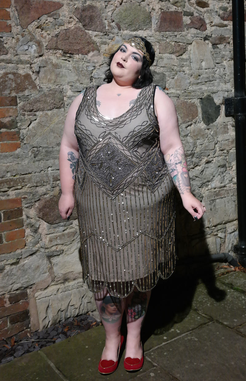 Plus Size Flapper Girl Halloween Costume with GatsbyLady ...