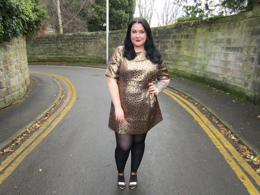 Simpy Be Metallic Shift Dress