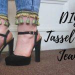 DIY Tassel Hem Jeans