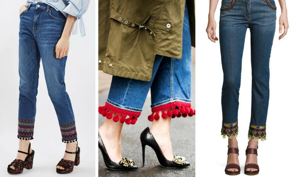 DIY Tassel Hem Jeans Inspo Pictures