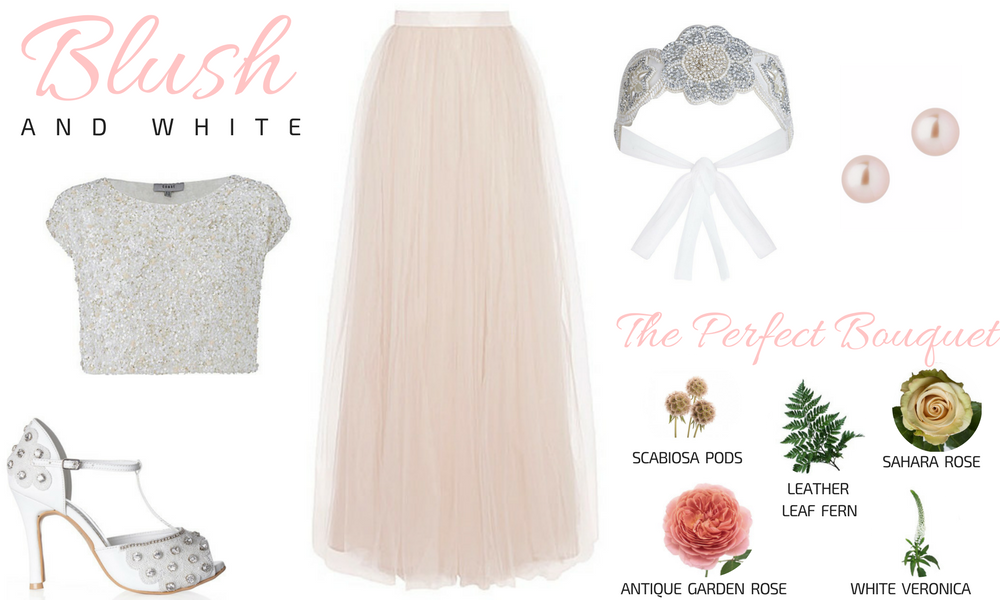 Blush & White Plus Size Bridal Look Gatsby Wedding
