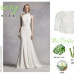 Greenery & White Plus Size Wedding Look Gatsby Wedding
