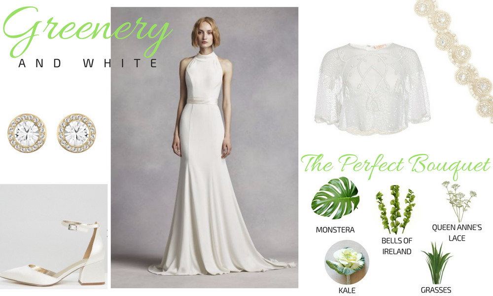 Greenery & White Plus Size Bridal Look Gatsby Wedding