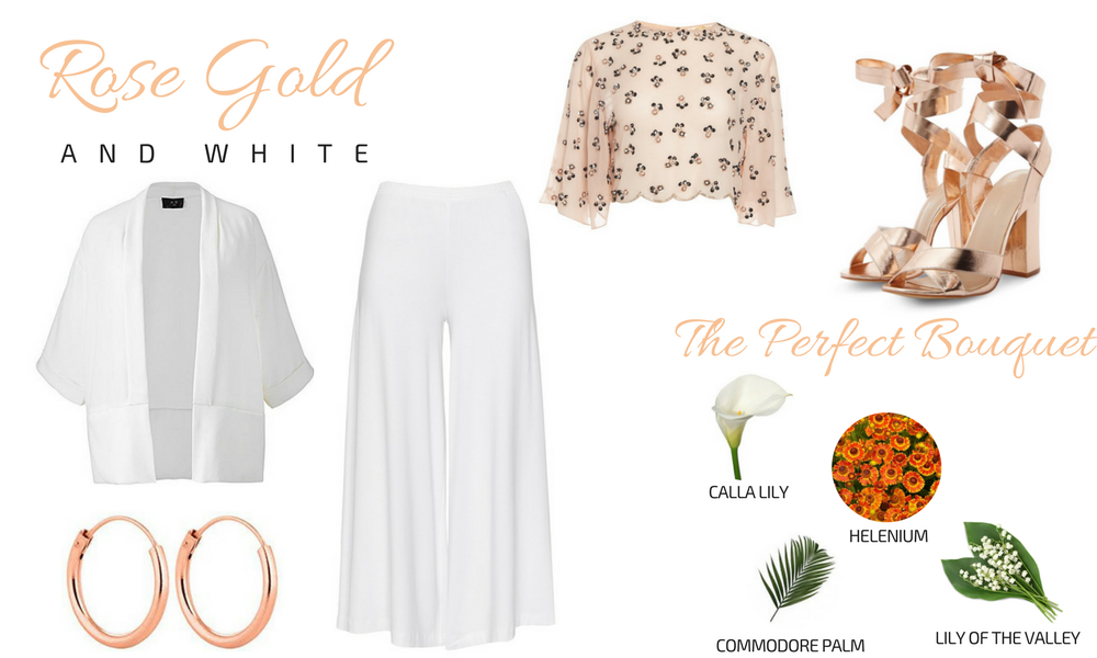 Rose Gold & White Plus Size Bridal Look Gatsby Wedding