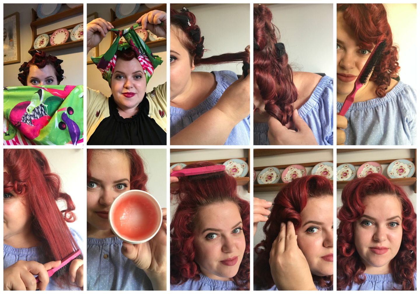 Pin Curls Hair Tutorial
