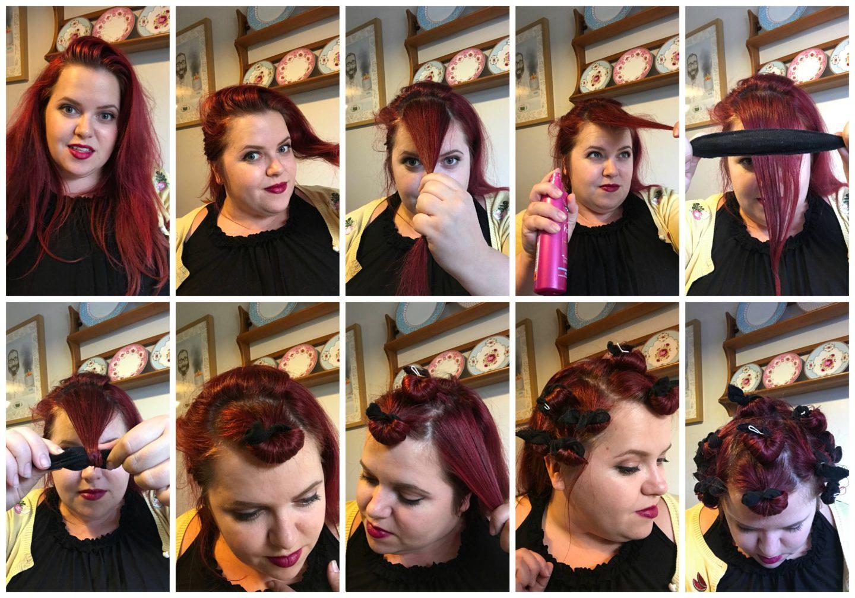 Pin Curls Hair Tutorial
