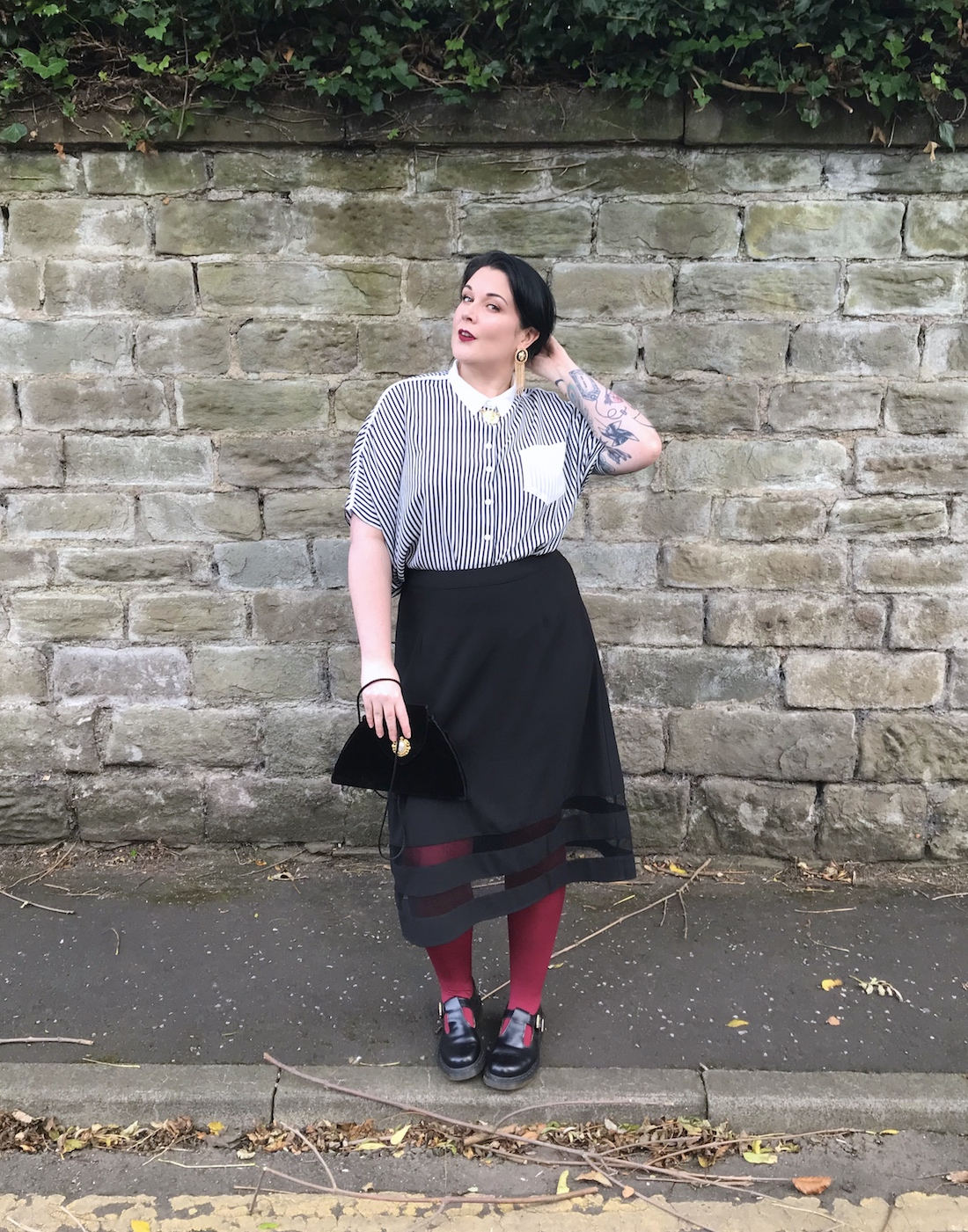 A Plus Size Halloween Inspired Outfit