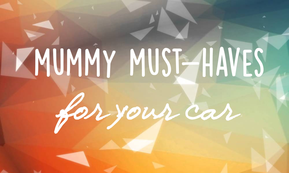 4 Must Haves for your Car (if you have a small human!)