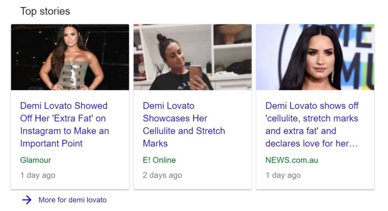 Demi Lovato Is Not The Body Positive Hero We Need, headlines featuring demi lovato
