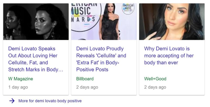 Demi Lovato Is Not The Body Positive Hero We Need, headline featuring demi lovato