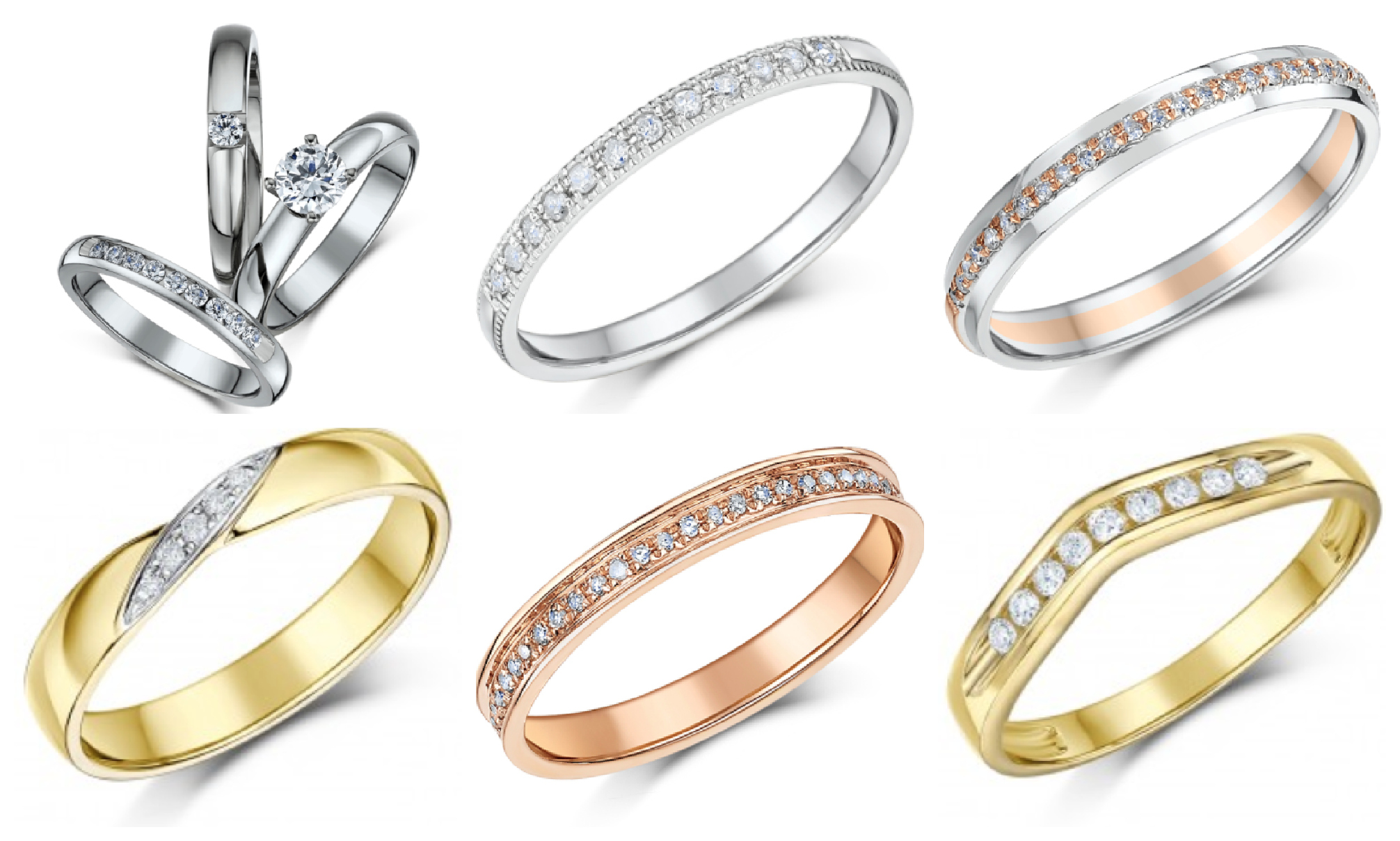 Different ring styles from Elma Jewellery
