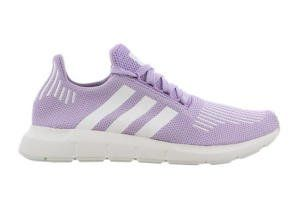 lilac and white adidas trainers